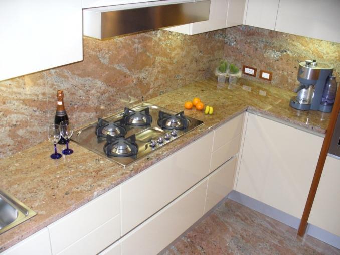 Piani cucina granito rose wood sironi marmi - Top cucina in granito ...